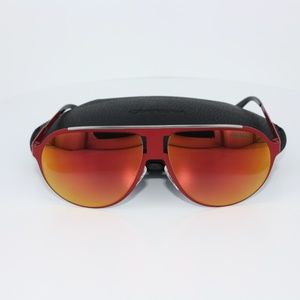 NWT NIB Carrera Red Flash Lenses Sunglasses